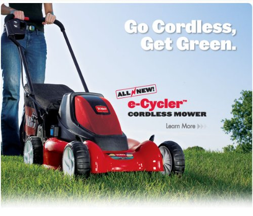 Toro 20360 e-Cycler 20-Inch 36-Volt Cordless Electric Lawn Mower image