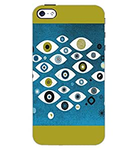 PrintDhaba MULTICOLOR DESIGN D-6903 Back Case Cover for APPLE IPHONE 4S (Multi-Coloured)