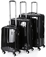 """5 Cities Lightweight Hard shell Travel Luggage Suitcase- 4 Wheel Spinner Trolley Bag 21"""" Fits 55x40x20cm, 26"""" 63x48x28cm, 29"""" 73x56x32cm (5 Years Guarantee)"""