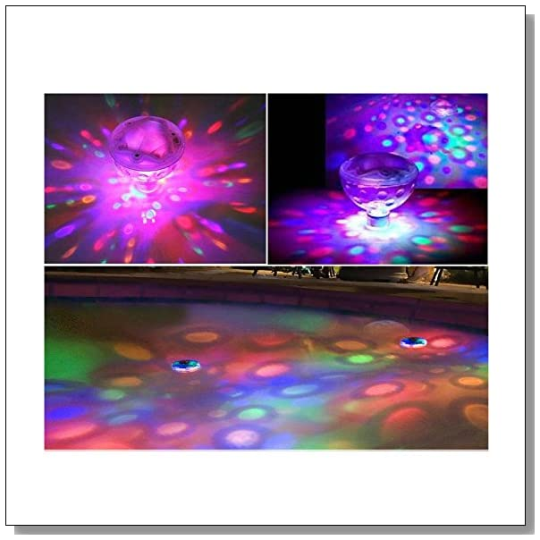AGPtek Aqua Glow LED Water Floating Disco Ball Light Lamp For Show Swimming Pool Pond Spa Hot Bath Tub with 5 LED Lights