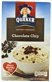 Quaker Instant Oatmeal, Chocolate Chip, 1.23 Oz., 10 Count  Packets (Pack of 4)