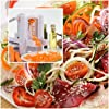 WonderVeg Vegetable Spiralizer - Tri Blade Spiral Slicer - Cleaning Brush, Mini Recipe Book and 2 Spare Parts Included - Zucchini Spaghetti Pasta Noodle Maker