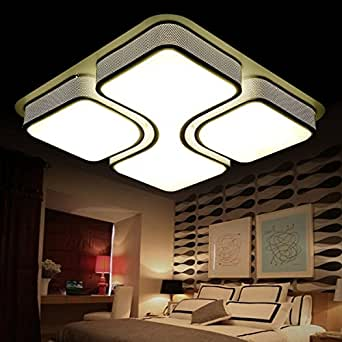 Square LED Ceiling Living Room Lights LED Energy Efficient Lighting Creative