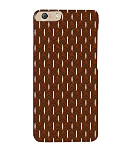 Brown Color Pattern Design 3D Hard Polycarbonate Designer Back Case Cover for Micromax Canvas Knight 2 E471