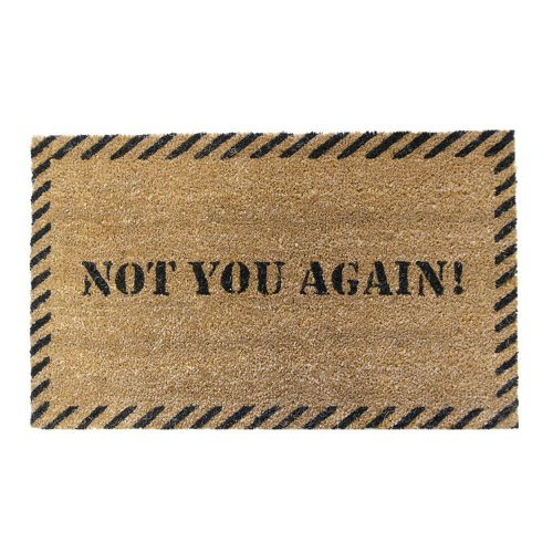 "Rubber-Cal ""Not You Again"" Unwelcome Mat, 18 x 30-Inch"