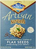 Blue Diamond Almond Artisan Nut-Thins Flax Seeds, 4.25 Ounce