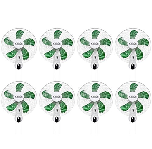 "(8) Hydrofarm Acf16 Active Air 16"" Wall Mountable Oscillating Hydroponic Fans"
