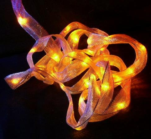 Ribbon Lights Led Battery Yellow Fairy Lights-14 Feet Long