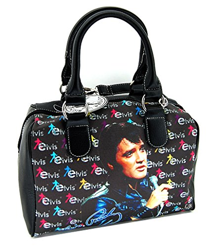Elvis Presley Satchel Handbag, Black Jacket with Microphone, NEW 2015