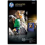 HP Advanced Photo Paper, Glossy (100 Sheets, 4 x 6 Inch with Tab)