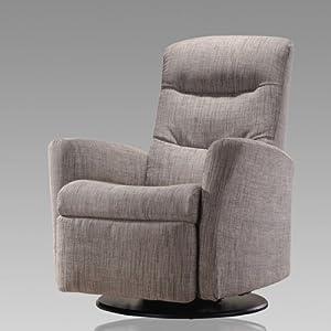 Flash Furniture Recliner Amazon.com - Arron Swivel Recliner Color: Light Grey - Small Recliners