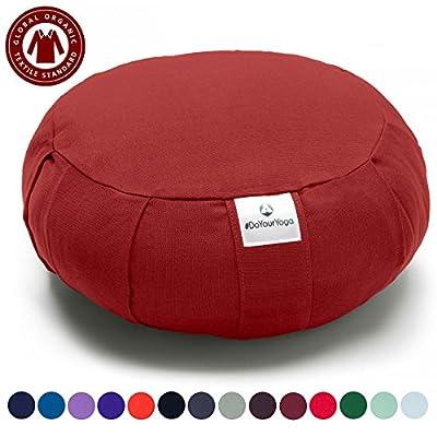 Zafu-Kissen »MoogliÂ« / Klassisches Yoga Meditationskissen / 100% biologische Baumwolle / 35 cm x 15 cm / In vielen wunderschönen Farben erhältlich