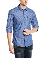 edc by ESPRIT Herren Slim Fit Freizeit Hemd gestreift