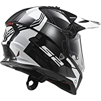 LS2 Helmets Pioneer Trigger Adventure Off Road Motorcycle Helmet with Sunshield (White, Small) by LS2 Helmets