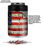 Painted Faded and Cracked USA American Flag - Decal Style Skin Wrap fits Yeti Rambler Colster and RTIC Can (COOLER NOT INCLUDED)