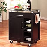 Coaster Home Furnishings 910012 Transitional Kitchen Cart, Black