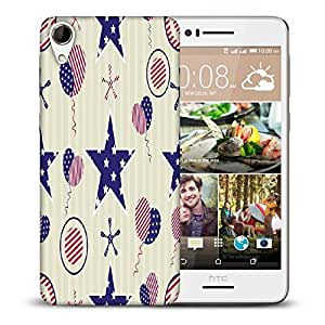 Snoogg Us Star Printed Protective Phone Back Case Cover For HTC Desire 728