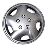 TuningPros WSC-852S143 Hubcaps Wheel Skin Cover 14-Inches Silver Set of 4