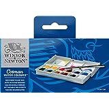 Winsor & Newton Cotman Boîte de Peinture aquarelle en plastique avec 12 1/2 godets Multicolore