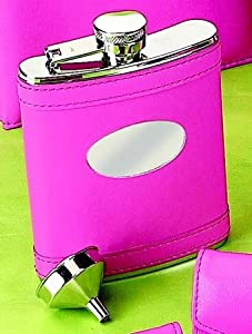 Pretty in Hot Pink Flask (Engravable)