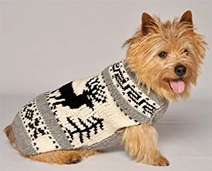 Handmade Reindeer Holiday Winter Dog Sweaters Small by Bad Ass Petz