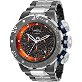 Invicta Men's 'Marvel' Quartz Stainless Steel Casual Watch, Color:Grey (Model: 26004)