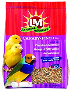 L/M Animal Farms B12217 6-Piece Canary and Finch for Bird Cage, 2-Pound