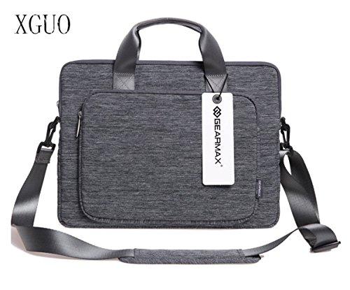 XGUO Tessuto Borsa del Computer Ventiquattrore Sleeve Case per Apple iPad Pro e Laptop / Notebook / Computer Portatile / MacBook Pro / MacBook Air da 13.3 Pollice - Grigio
