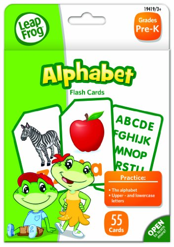 LeapFrog Alphabet Flash Cards for Grades Pre-K, Pack of 55 (19419) - 1