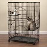 PetEdge Wire and Plastic Easy Cat Cage, Black