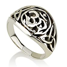 buy Om Ring Sterling Silver 925 Sacred Geometry Yoga Meditation Jewelry (8.5)
