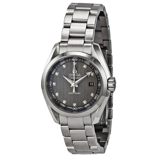 Omega Seamaster Aqua Terra Diamond Dark Grey Dial Stainless Steel Ladies  Watch 23110306056001 a48648849f