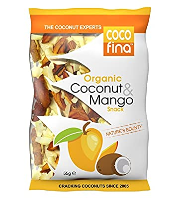 Cocofina Organic Coconut and Mango Chips Snack 55 g (Pack of 4)