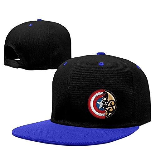 Rushero Cool Captain America Shield Wallpapers FlatBrim Snapback Hats (Captain America Bucket Hat compare prices)