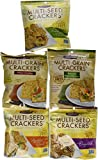 Crunchmaster Multi- Seed Crackers - Party Pack 5 Asst / 4.5 Oz Bags Gluten Free