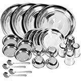 STAINLESS STEEL DINNER SET 24 PCS