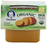 Gerber 1st Foods Organic Sweet Potatoes, 2-Count, 2.5-Ounce Tubs (Pack of 8)