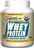 Jarrow Formulas Organic Whey Protein, Unflavored, 1 Pound