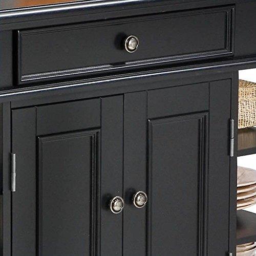 Home Styles 5092 94 Americana Kitchen Island, Black Finish Furniture