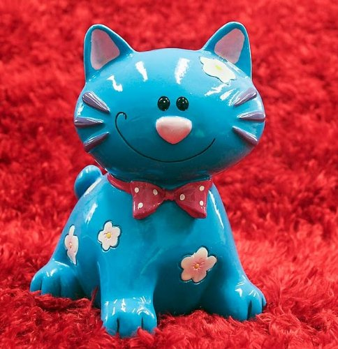 Blue Kitty Cat Piggy Bank - Funny Toys for Children - 1