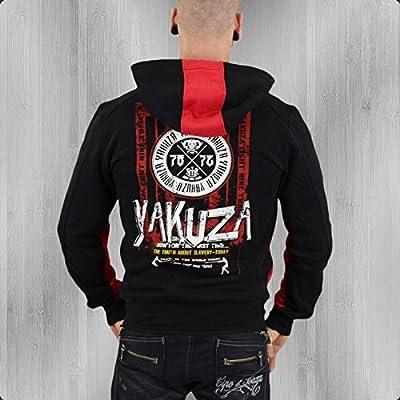 Yakuza Kapuzen Jacke Herren The Truth HZB 528 schwarz rot - fällt 1 Nr. kleiner aus