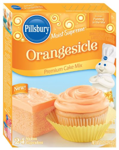 Pillsbury Moist Supreme Orangesicle Premium Cake Mix 15.25oz (Pack of 2)