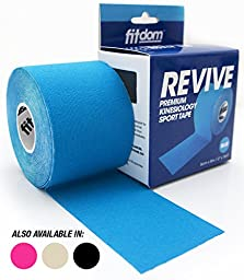 Premium Kinesiology Sports Tape + BONUS Step by Step Guide. FDA Approved. Therapeutic Athletic Taping for Knee, Shoulder, Elbow & More. Water Resistant, Latex Free. Recovery & Support. Bulk Order.
