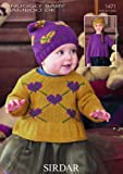 Sirdar Baby Snuggly Baby Bamboo DK Sweaters & Hats Knitting Pattern 1471