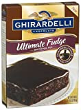 Ghirardelli Chocolate Brownie Mix, Ultimate Fudge, 18-Ounce Boxes (Pack of 12)