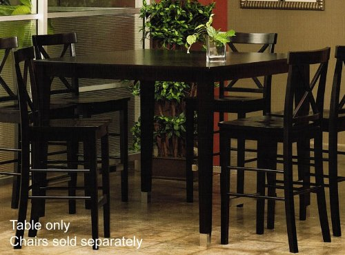 Buy Low Price Alpine Furniture Counter Height Pub Dining Table with Tapered Legs Design in Espresso Finish (VF_AP-173-01)