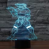 New Action Figure 7 colors Robot 3D Visual LED Night Lights for Kids Friends Fans as Bedroom Table Desk Lamp