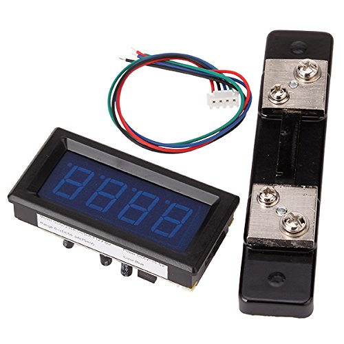 Generic Stable 0-50A Dc Bright Blue Led Display Digital Ampere Meter Ammeter With Shunt