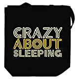 Crazy about Sleeping Canvas Tote Bag