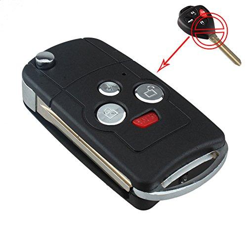 bacai-4-button-flip-folding-remote-key-shell-case-refit-for-toyota-camry-avalon-corolla